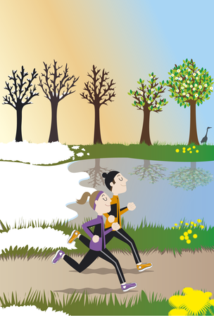 """Illustration """"Bientôt le printemps"""""""