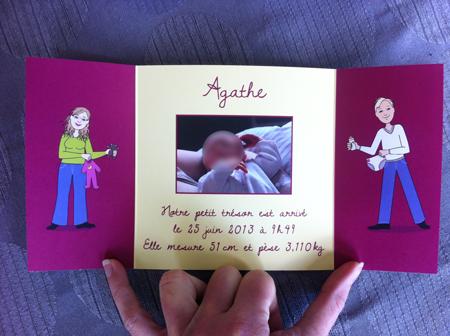 Faire-part de naissance – Agathe