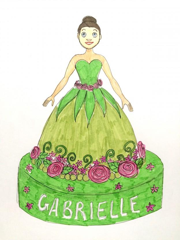 Gâteau d'anniversaire – Gabrielle