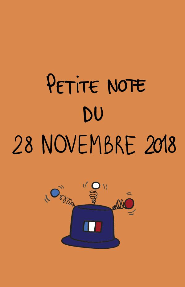 Petite note du 28 novembre 2018