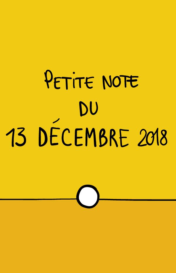 Petite note du 13 décembre 2018