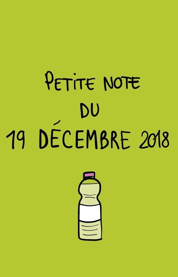 Petite note du 19 décembre 2018