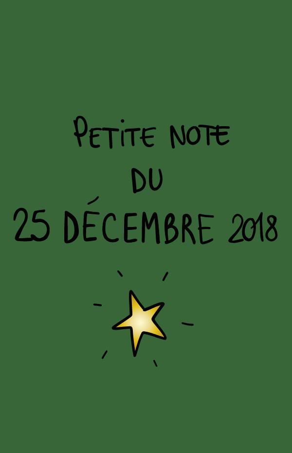 Petite note du 25 décembre 2018