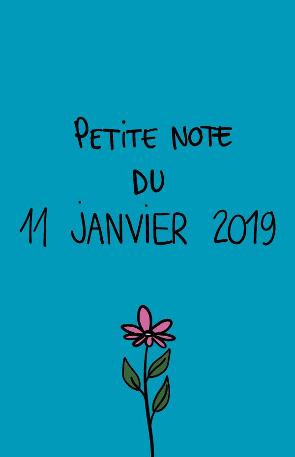 Petite note du 11 janvier 2019