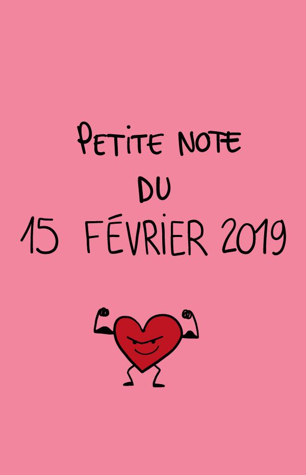 Petite note du 15 février 2019