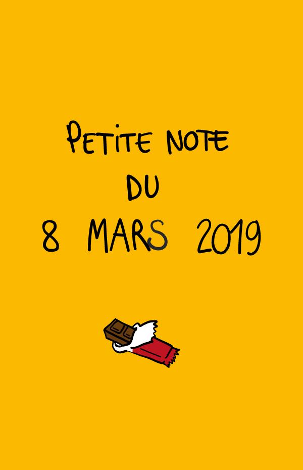 Petite note du 8 mars 2019