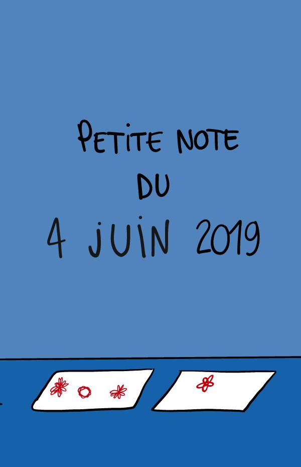 Petite note du 4 juin 2019