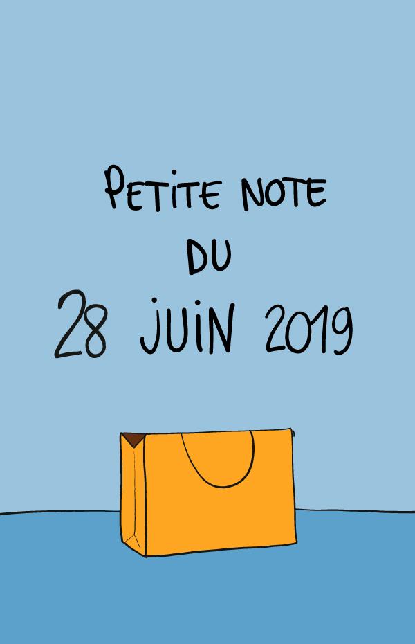 Petite note du 28 juin 2019