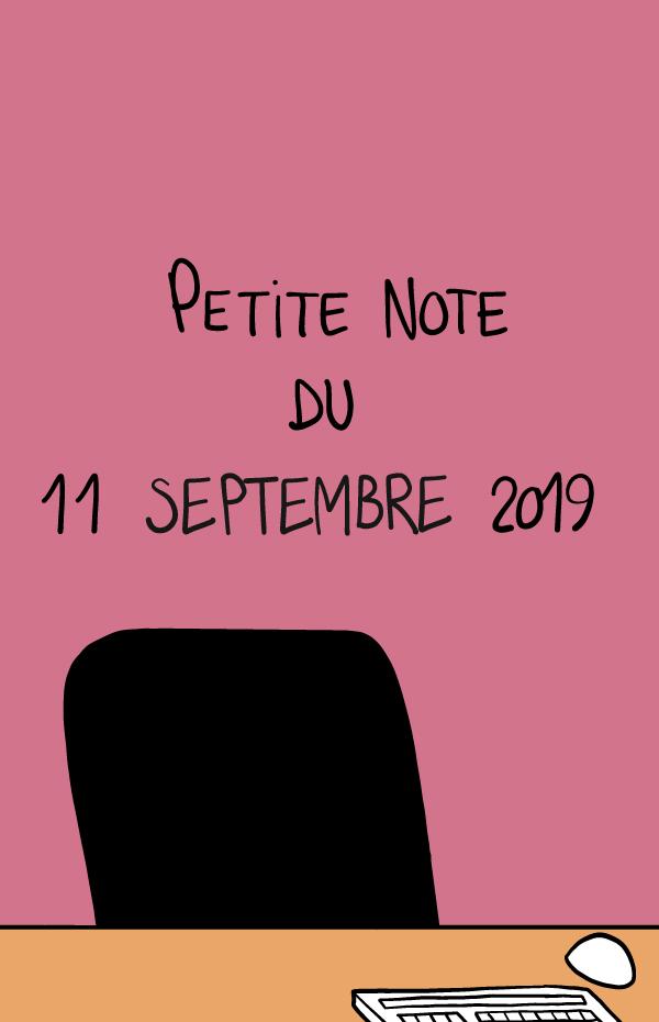 Petite note du 11 septembre 2019