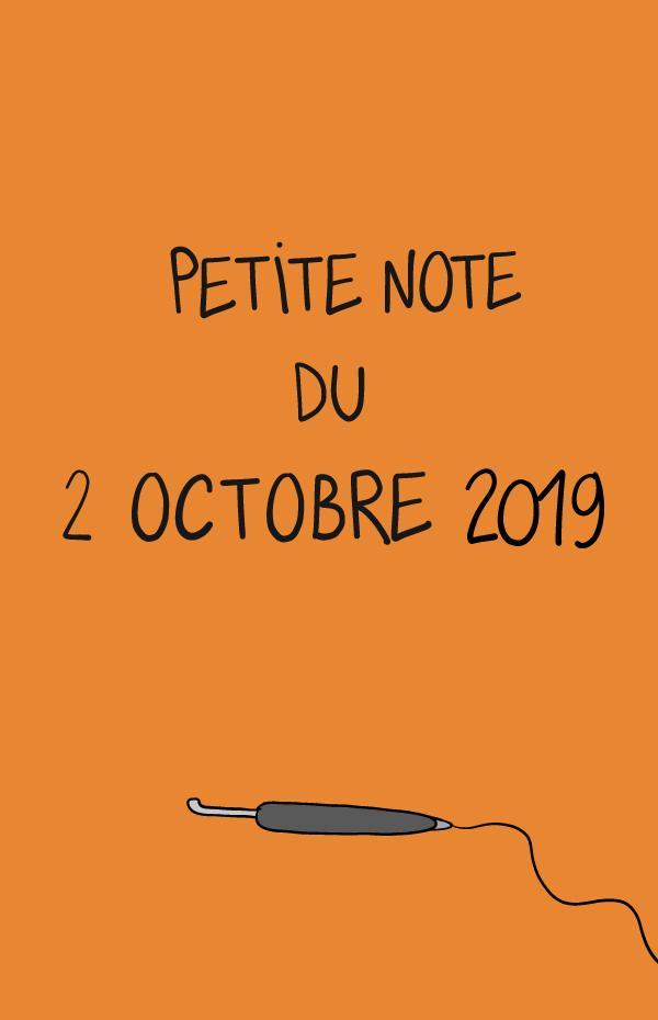 Petite note du 2 octobre 2019