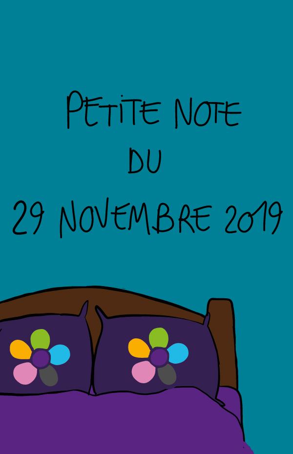 Petite note du 29 novembre 2019