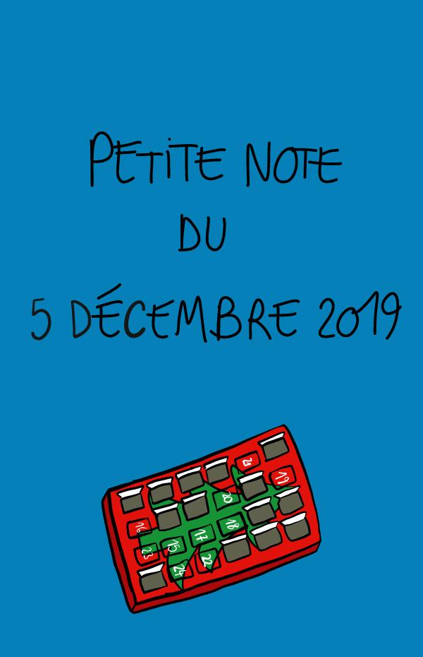 Petite note du 5 décembre 2019