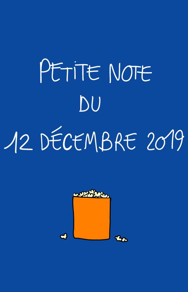 Petite note du 12 décembre 2019