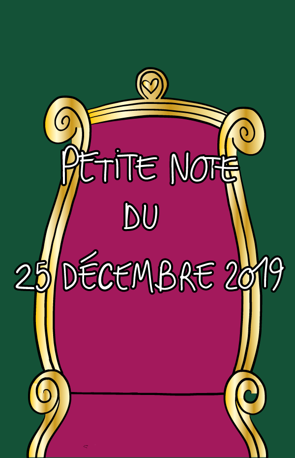 Petite note du 25 décembre 2019