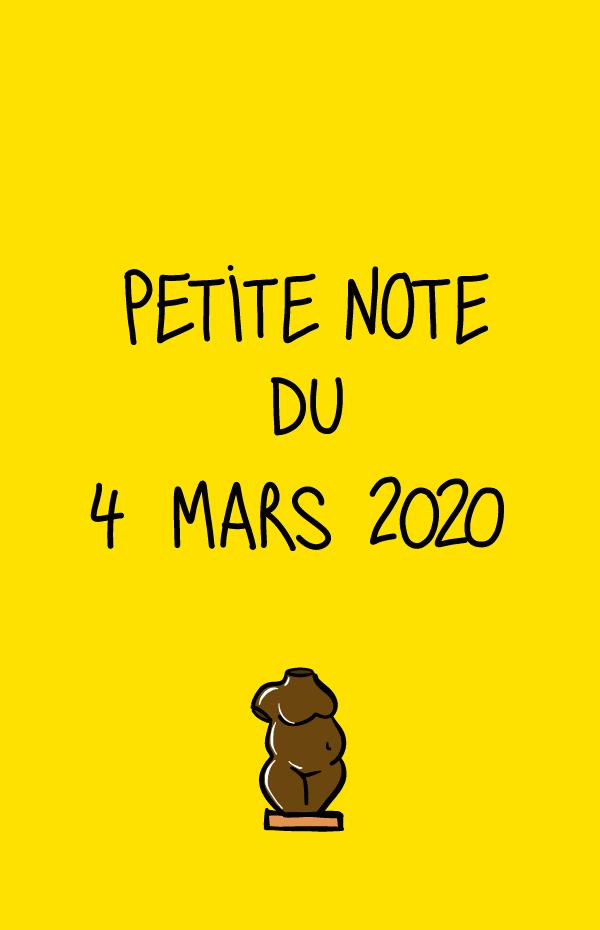 Petite note du 4 mars 2020