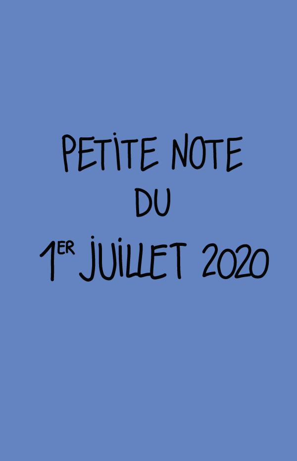 Petite note du 1er juillet 2020